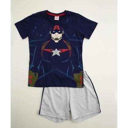 Pijama Infantil Estampa Capitão América Marvel Tam 4 A 10 - 10047983496