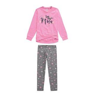 Pijama Infantil Estrelas Longo Malwee Liberta Feminina