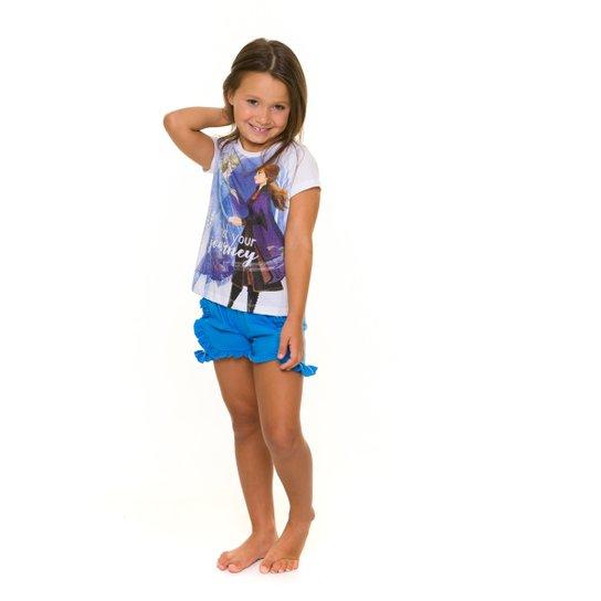Pijama Infantil Evanilda Disney Frozen Feminino - Branco