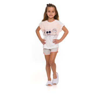 Pijama Infantil Evanilda Good Vibes Feminino