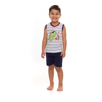 Pijama Infantil Evanilda Roar Masculino