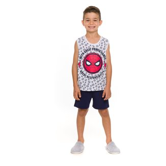 Pijama Infantil Evanilda Spider-Man Masculino
