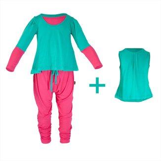 Pijama Infantil Gumii Anne Sophie 3 peças Feminina