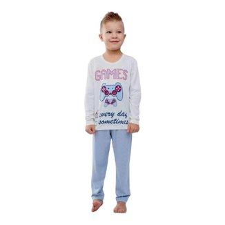 Pijama Infantil Inverno Masculino Games Lua Chic