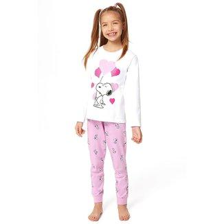 Pijama Infantil Inverno Snoopy Malwee Kids Feminina