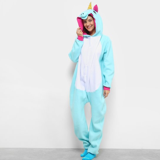 Pijama Infantil Kigurumi Unicornio 3d Longo Feminino Netshoes
