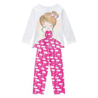 Pijama Infantil Kyly Princess Brilha No Escuro Feminino