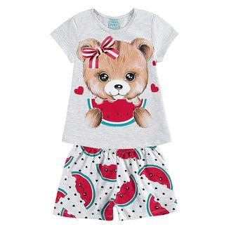 Pijama Infantil Kyly Ursinha Brilha no Escuro Feminino