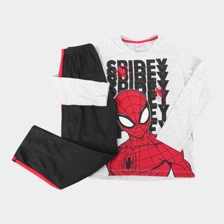 Pijama Infantil Longo Evanilda Marvel Spider-Man