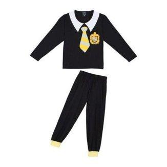 Pijama Infantil Lupo Harry Potter Manga Longa