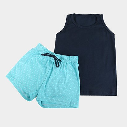 Pijama Infantil Lupo Short Doll c/ Regata Feminino