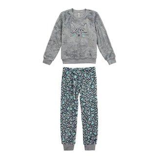 Pijama Infantil Malwee com Máscara Feminina
