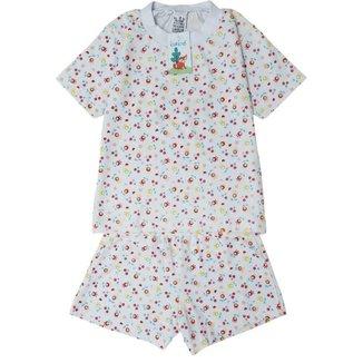 Pijama Infantil Manga Curta Feminino Babié Floral