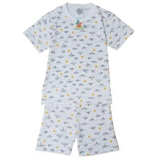 Pijama Infantil Masculino Babié Manga Curta Barquinho