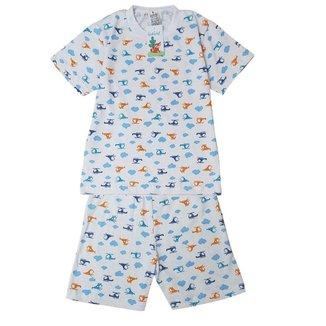 Pijama Infantil Masculino Babié Manga Curta Helicóptero