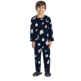 Pijama Infantil Masculino Espaço Rovitex Kids Azul 6