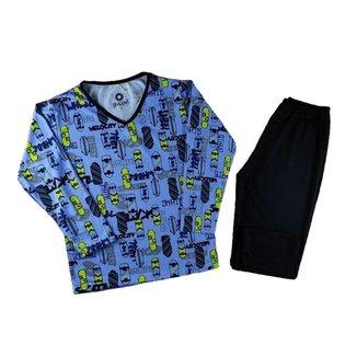 Pijama Infantil Masculino Longo