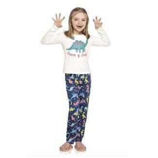 Pijama Infantil Menina Dino Brilha no Escuro Elian