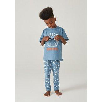 Pijama Infantil Menino Com Aplique Interativo - 566H1AEN5