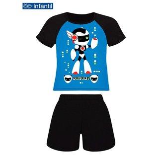 Pijama Infantil Menino Curto Lupo 20166-001 Preto
