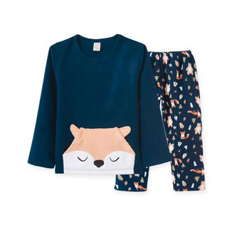 Pijama  Infantil Pingo Lelê manga longa Soft Raposa Marinha
