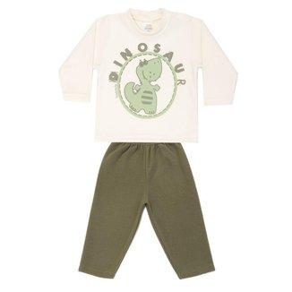 Pijama Infantil Soft Brilha No Escuro Dinossauro Dadomile