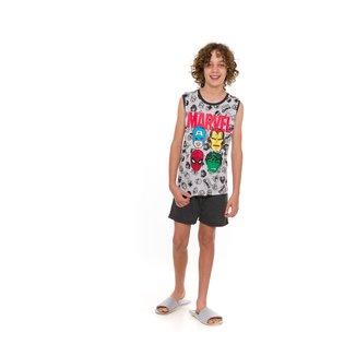 Pijama Juvenil Evanilda Vingadores Masculino