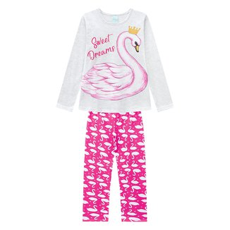 Pijama Juvenil Kyly Sweet Dreams Brilha No Escuro Feminino
