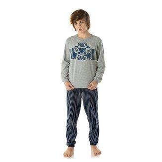 Pijama Juvenil Longo Duzizo Estampado Brilha No Escuro