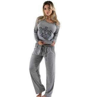 Pijama Linha Noite Longo 304 Feminino