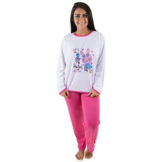 Pijama Linha Noite Longo Feminino