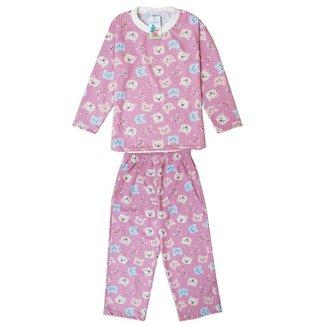 Pijama Longo Babié Infantil Ursinha Feminino
