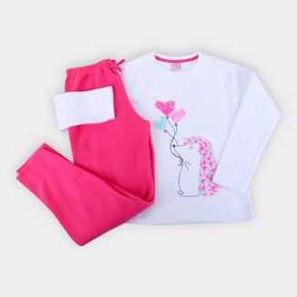 Pijama Longo Bebê Evanilda Porco- Espinho Feminino