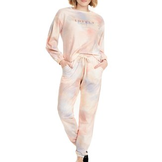 Pijama Longo Cor Com Amor Lovely Tie Dye Feminino