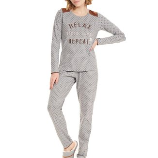 Pijama Longo Cor Com Amor Sleep Love Feminino