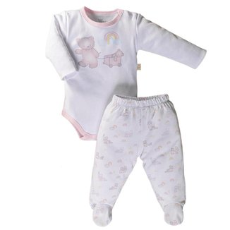 Pijama Longo Em Suedine Antiviral - Anjos Baby