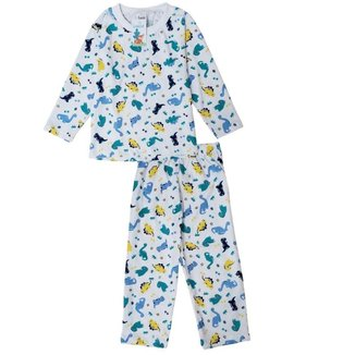 Pijama Longo Infantil Babié Masculino Dinossauro