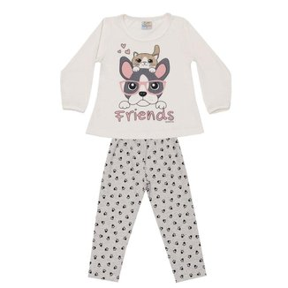 Pijama Longo Infantil Brilha No Escuro Love Dadomile