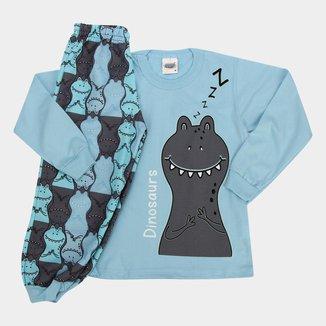 Pijama Longo Infantil Duzizo Brilha No Escuro Masculino