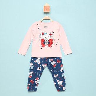 Pijama Longo Infantil Elian Beuatiful Day Feminino