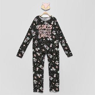 Pijama Longo Infantil Elian Girls Are Made Magic Feminino