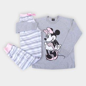 Pijama Longo Infantil Evanilda Disney Minnie Mouse Feminino