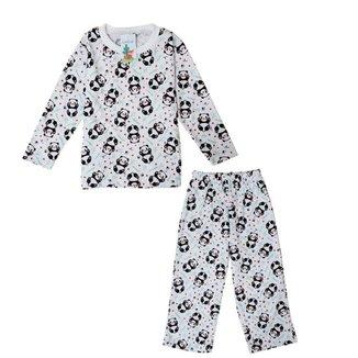 Pijama Longo Infantil Feminino Babié Panda