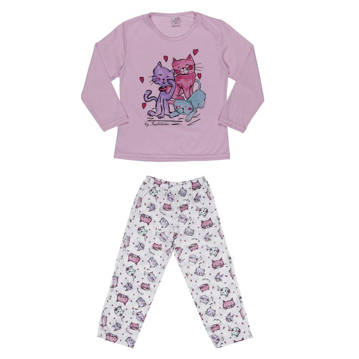 bf07b649630316 Pijama Longo Izi Dreams - Rosa
