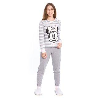 Pijama Longo Juvenil Evanilda Disney Minnie Mouse Feminino