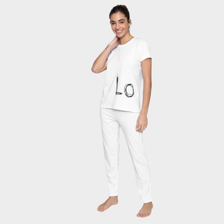 Pijama Longo Volare Love Feminino