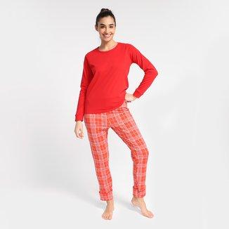 Pijama Longo Volare Xadrez Feminino