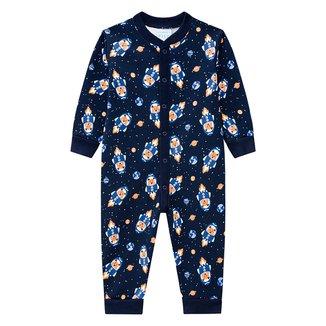 Pijama Macacão Bebê Kyly Foguete Brilha No Escuro Masculino