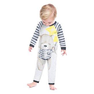 Pijama Macacão Bebê Kyly Ursinho Brilha no Escuro