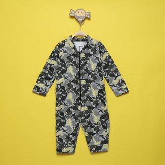 Pijama Macacão Infantil Elian Estampado Masculino